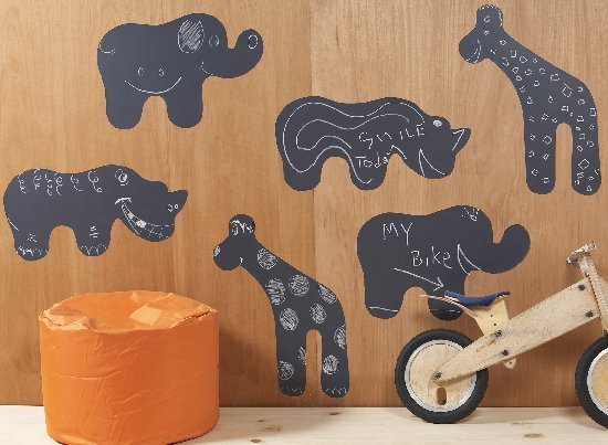 Chalkboard Animals Wallcandy - Wall Sticker Outlet