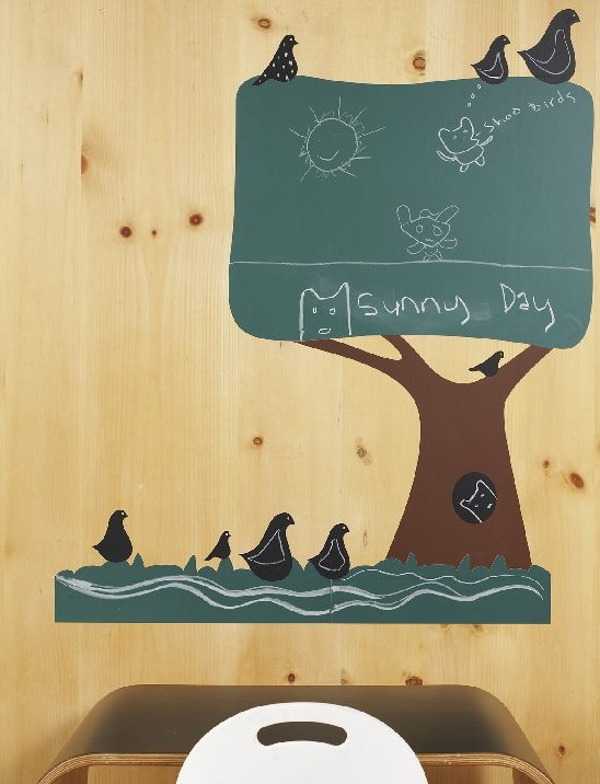 Chalkboard Tree Wallcandy - Wall Sticker Outlet