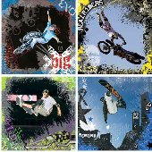 X-Games 4 Piece Self-Stick Wall Art