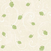 Leaf Scroll Tan Prepasted Wallpaper
