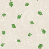 Leaf Scroll Taupe Prepasted Wallpaper