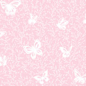Butterfly Garden Pink Prepasted Wallpaper