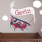 Adventure Plane Fabric Decal