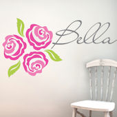 Bella Rose Fabric Decal