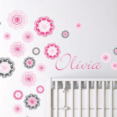 Blushing Blooms Fabric Decal