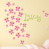 Butterfly Bunch Fabric Decal