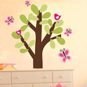 Swirl Tree Fabric Decal
