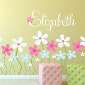 Field Of Flowers Fabric Decal