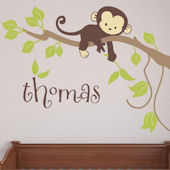 Monkey Branch Fabric Decal
