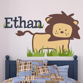 Safari Lion Fabric Decal
