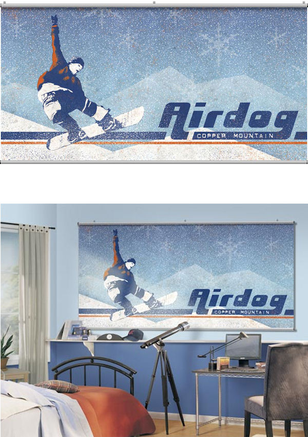 Airdog Blue Minute Mural - Wall Sticker Outlet