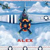 Airplane Personalized Peel and Stick Mural