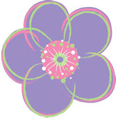 Wall Pops Poppies Purple Set of 4 Shapes