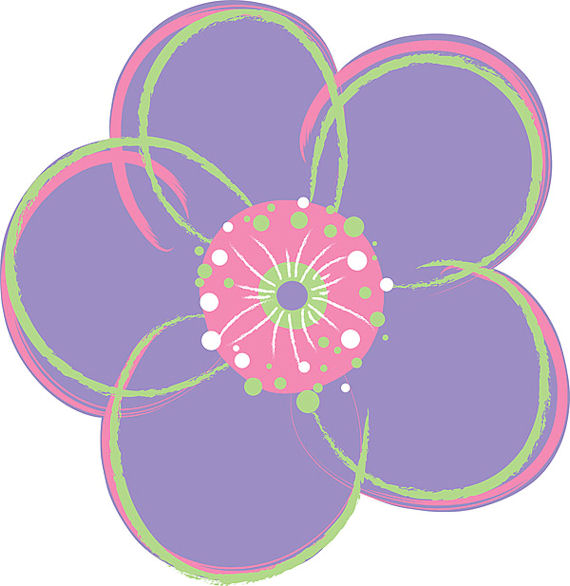 Wall Pops Poppies Purple Set of 4 Shapes - Wall Sticker Outlet
