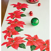 Wallies Poinsettia Holiday Sticker