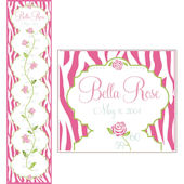 Personalized Bella Rose Canvas Growth Chart