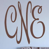 Christines Monogram Wall Sticker Decal