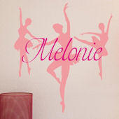 Dance Personalized Vinyl Wall Decal