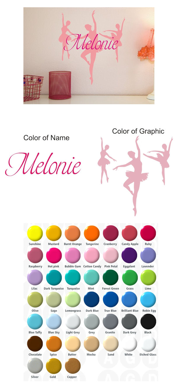 Dance Personalized Vinyl Wall Decal - Wall Sticker Outlet