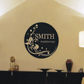 Decorative Floral Family Monogram Wall Decal
