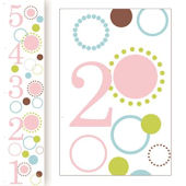 Girls Dots Canvas Growth Chart