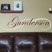 Gunderson Signature Wall Decal