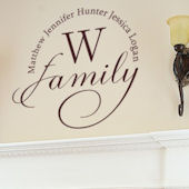 Initial Family Wall Decal