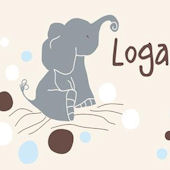 Logans Dots Cream Canvas Wall Art
