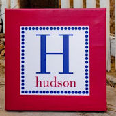 Personalized Preppy Dot Canvas Wall Art