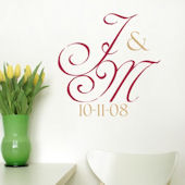 Simple but Elegant Monogram Wall Decal