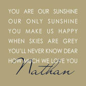 Our Sunshine Beige Canvas Wall Art