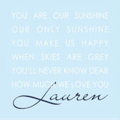 Our Sunshine Blue Canvas Wall Art