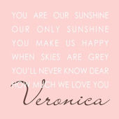 Our Sunshine Pink Canvas Wall Art
