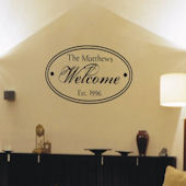 Welcome Oval Wall Decal