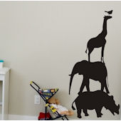 Chalkboard Animals Peel and Stick Wall Stickers