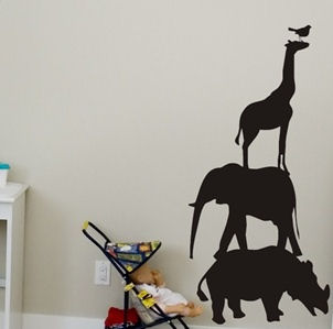 Chalkboard Animals Peel and Stick Wall Stickers - Wall Sticker Outlet