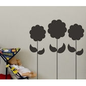 Chalkboard Flowers Peel and Stick Wall Stickers