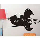 Chalkboard Rocket Peel and Stick Wall Stickers