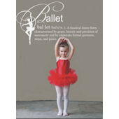 Ballet Definition Wall Sticker Decal