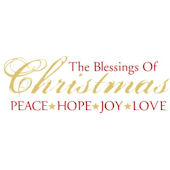 Blessings of Christmas Wall Sticker Decal