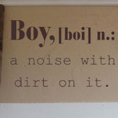 Boy Definition Wall Sticker Decal