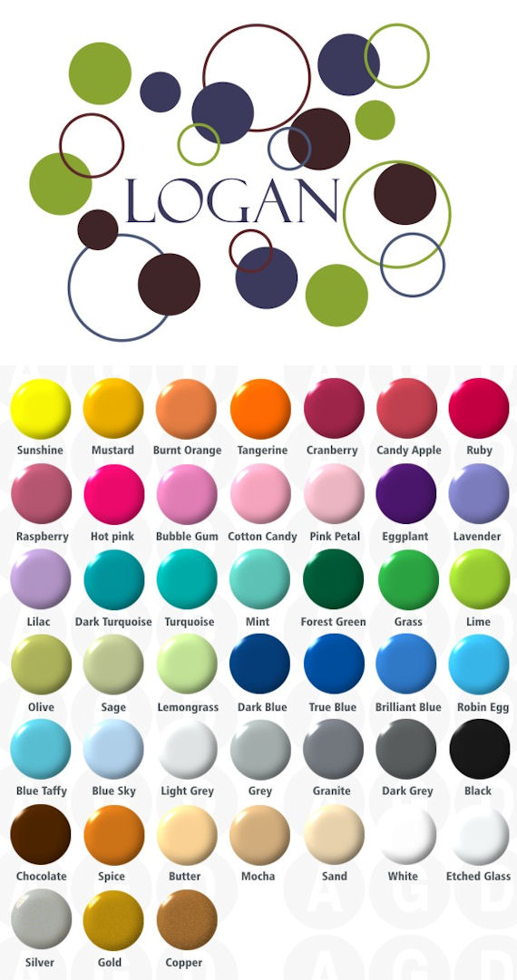 Boys Dots and Circles Wall Sticker Decal - Wall Sticker Outlet