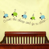 Counting Sheep Wall Sticker Decal