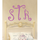 Curly Monogram Wall Sticker Decal