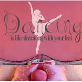 Dancing is Dreaming Wall Decal Sticker