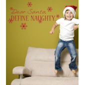 Define Naughty Wall Sticker Decal