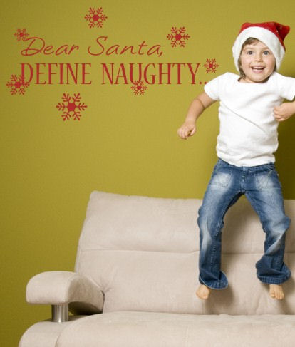 Define Naughty Wall Sticker Decal - Wall Sticker Outlet