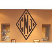 Diamond Monogram Wall Sticker Decal
