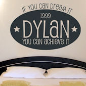 Dream Big Wall Sticker Decal
