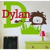 Dylans Lion Wall Sticker Decal